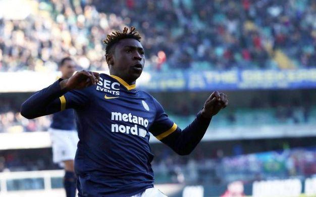 Verona-Milan 2-0, Kean (Ansa)