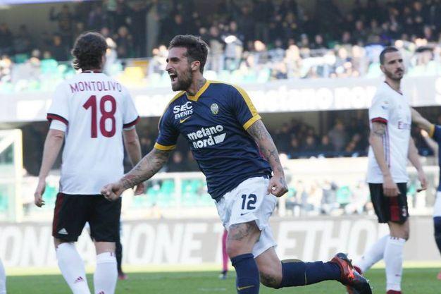 Verona-Milan 1-0, Caracciolo (Lapresse)