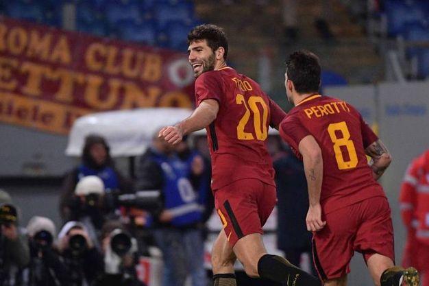 Roma-Cagliari 1-0, Fazio (Lapresse)