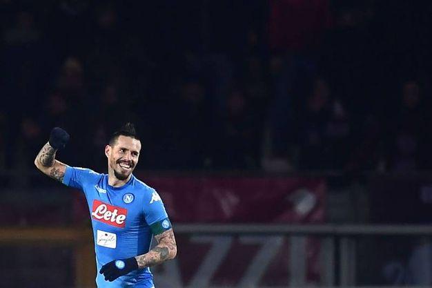 Torino-Napoli 0-3, Hamsik (Afp)