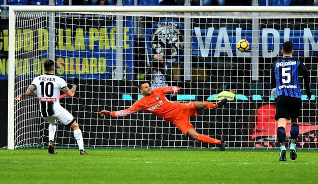 Inter-Udinese 1-2, De Paul (Newpress)