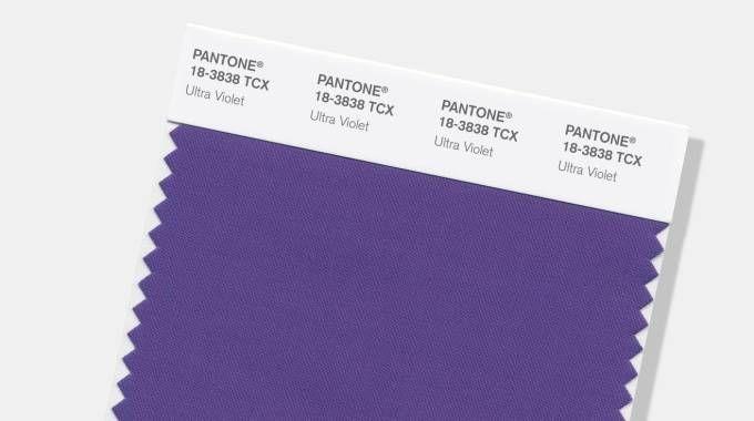 Ultra violet, il colore Pantone 2018 (Ansa)