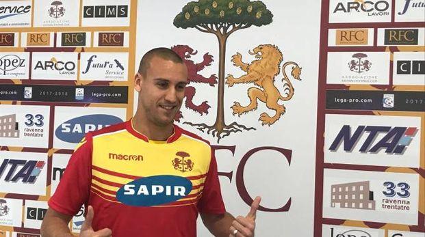 Adriano Marzeglia con la maglia del Ravenna