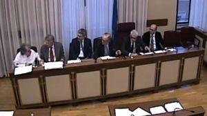 Brunetta annuncia la morte di Matteoli in commissione banche