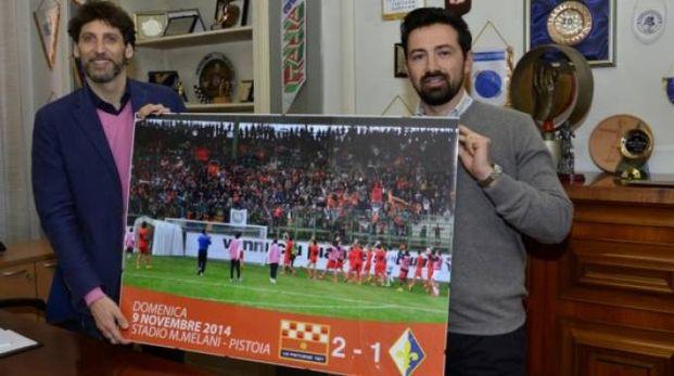 L'assessore comunale allo sport Gabriele Magni insieme a Marco Ferrari