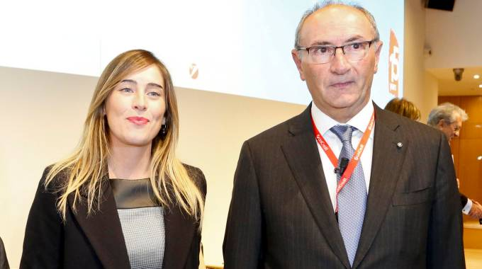 Maria Elena Boschi e Federico Ghizzoni (ImagoE)