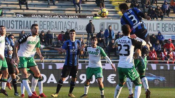 I neroverdi sconfitti dall'Atalanta in Coppa Italia (foto Ansa)