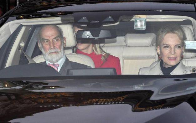 Il principe Michael del Kent con la moglie (Ansa)
