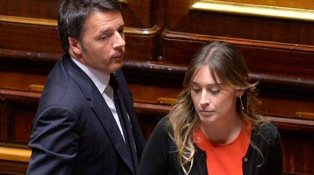 Matteo Renzi e Maria Elena Boschi (ImagoE)