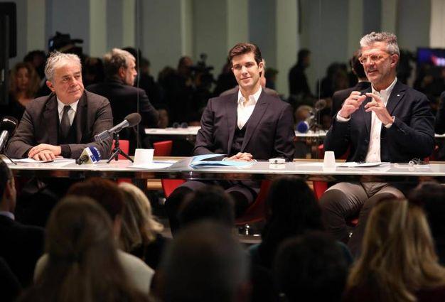 """Roberto Bolle alla presentazione del programma di Rai1 """"Danza con me"""" (Ansa)"""
