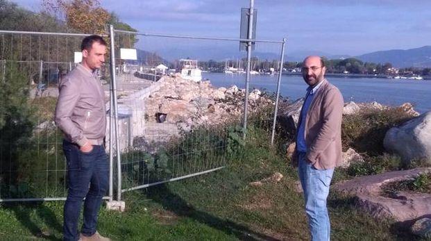 Il sindaco De Ranieri e l'assessore Bernava (foto di archivio)