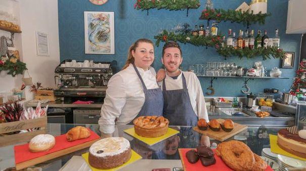 CristinaViviano e Francesco Romano nel loro locale