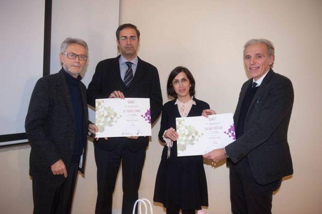Roberto Grandi e Massimo Iosa Ghini premiano i vincitori (foto Schicchi)