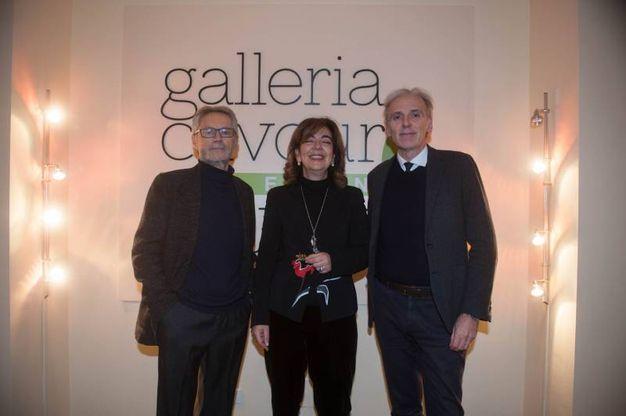 Roberto Grandi, Paola Pizzicghini Benelli e Massimo Iosa Ghini (foto Schicchi)