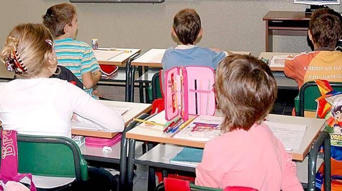 Scuola elementare: una classe. Foto generica (Orlandi)