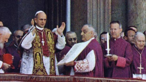 Papa Paolo VI durante una celebrazione in Vaticano