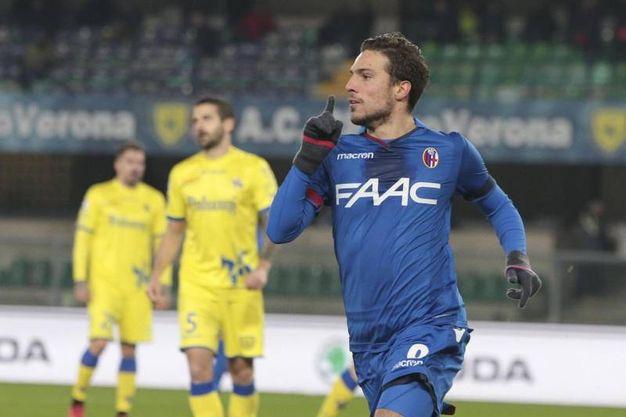 Il secondo gol del Bologna è firmato Simone Verdi (Ansa)