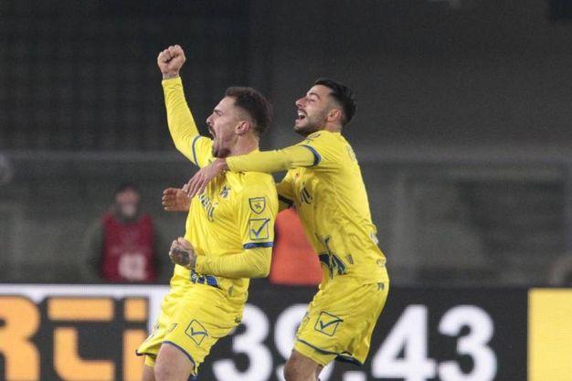 Cacciatore ha segnato il secondo gol del Chievo (Ansa)