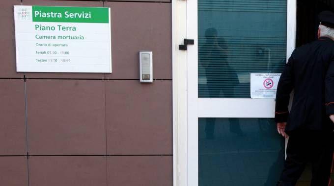 La camera mortuaria dell'ospedale Bufalini (Foto Ravaglia)