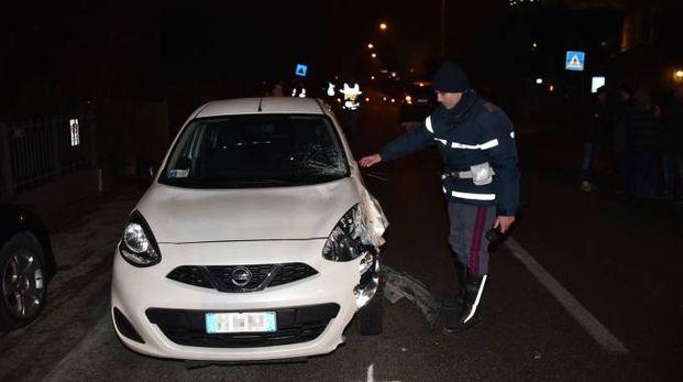L'incidente in cui ha perso la vita De Carolis (Foto Fantini)
