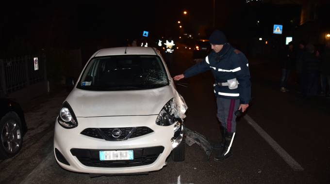 L'incidente in cui ha perso la vita De Carolis (Foto Fantini)