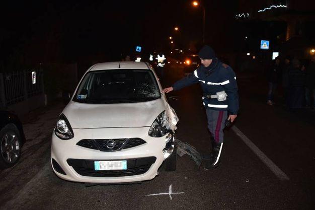 L'incidente è avvenuto in viale Primo Maggio, a Meldola (Foto Fantini)