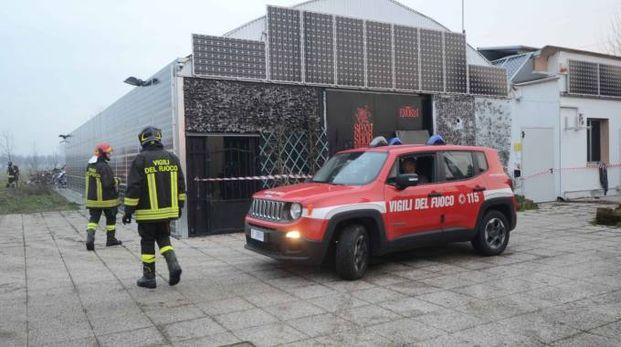 I vigili del fuoco dopo l'intervento