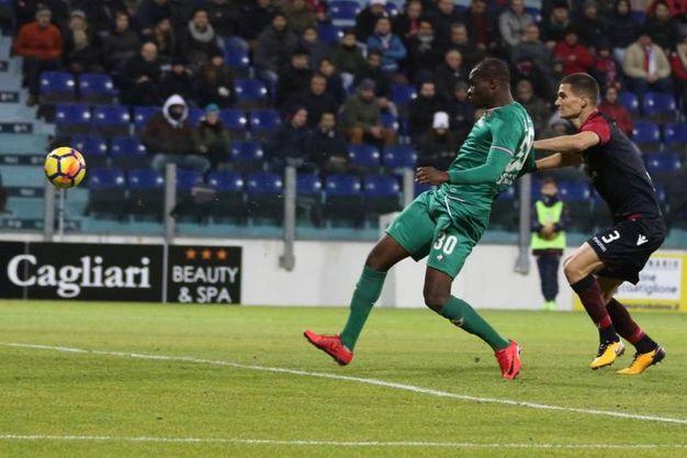 Cagliari-Fiorentina, il gol decisivo di Babacar (Ansa)