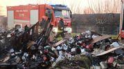 A Ceneselli, invece, una coppia con un bambino piccolo è stata costretta a scappare dalla propria casa in fiamme (Foto Donzelli)