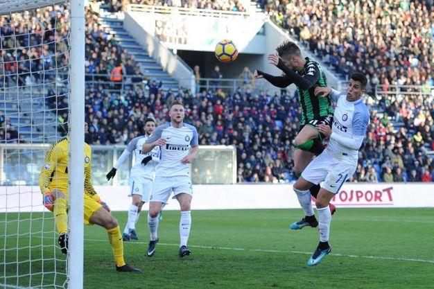 Il gol di Falcinelli (Lapresse)