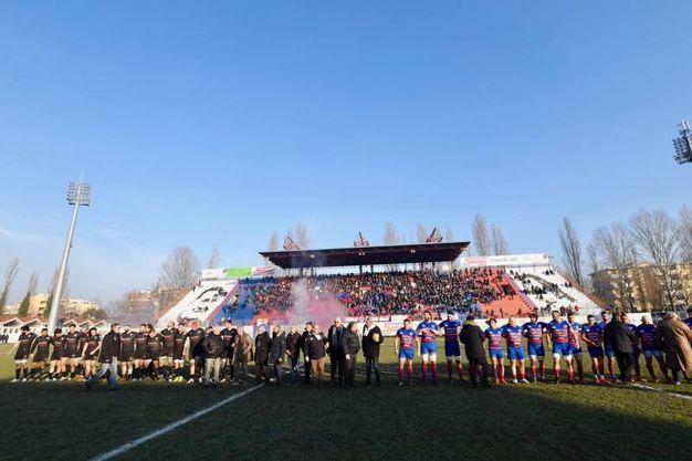 Allo stadio 'Mario Battaglini' 161° Derby d'Italia tra FEMI-CZ Rugby Rovigo Delta e Petrarca Padova