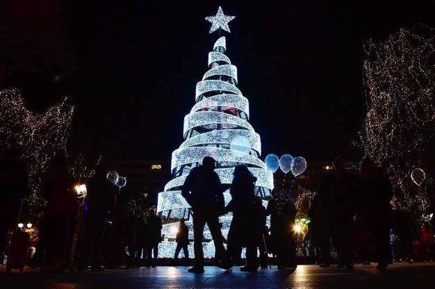 L'albero di piazza Syntagma ad Atene (Afp)