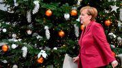L'albero di Angela Merkel nella sede della Cdu a Berlino (Afp)
