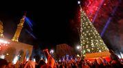 Albero di Natale a Beirut (Afp)