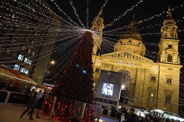 Magia di Natale a Budapest (Afp)