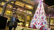 Gran Sfarzo di luci a Taipei, Taiwan (Ansa)