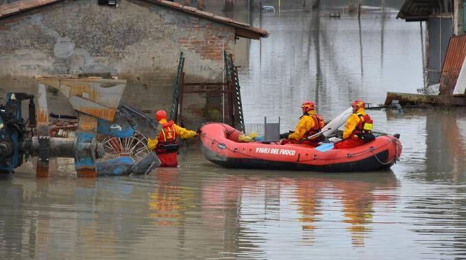 L'alluvione che ha colpito Lentigione (Foto Artioli)