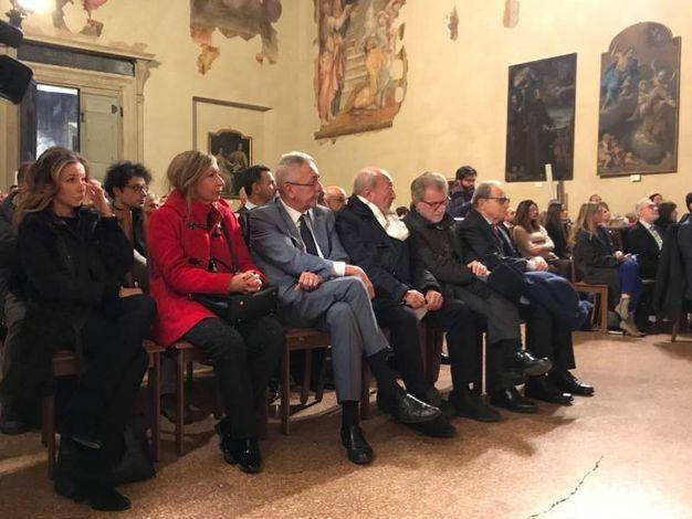 Eva Cangini, Marilena Pillati, Riccardo Malagoli, Fabio Roversi-Monaco, Ivano Dionigi e Leone Sibani