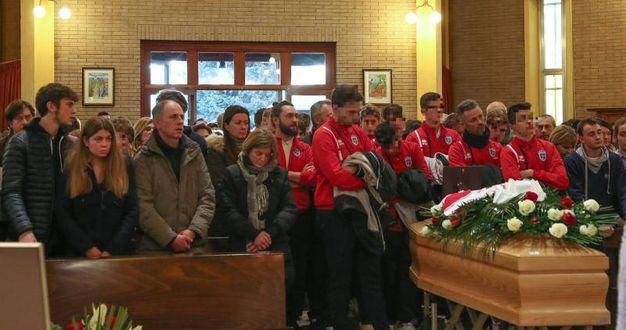 Si sono tenuti oggi i funerali di Matteo Ghiselli (Foto Fotoprint)