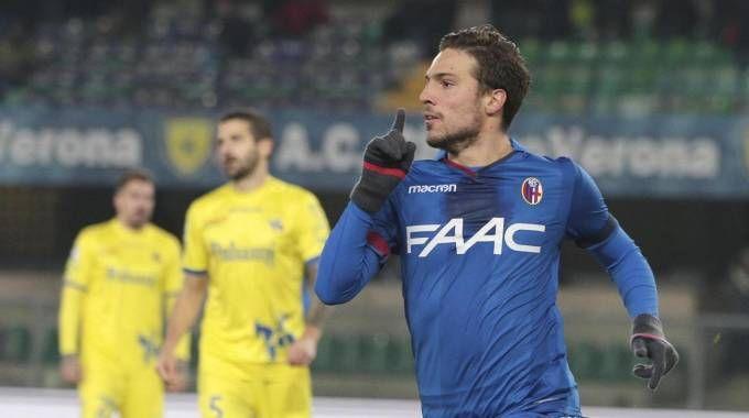 Simone Verdi dopo il gol al Chievo (Foto Ansa)
