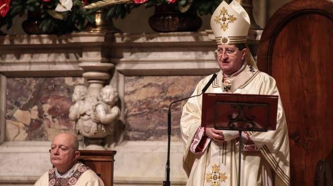 Il cardinale arciverscovo di Firenze, Giuseppe Betori (New PressPhoto)