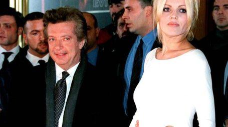 Vittorio Cecchi Gori e Rita Rusic in una foto d'archivio