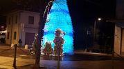 L'albero di Natale di Calisese di Cesena, costruito con bottiglie di plastica riciclate