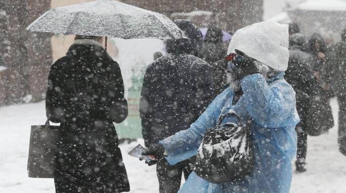 Previsioni meteo, neve in arrivo (Ansa)