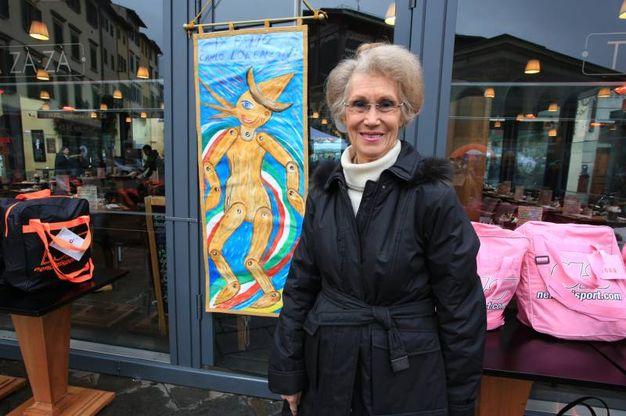 L'artista Giuliana Signorini, autrice del Palio (foto Germogli)