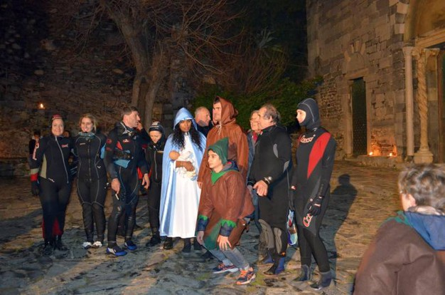Natale subacqueo a Porto Venere (foto Frascatore con la collaborazione di Fabio Zecchini)