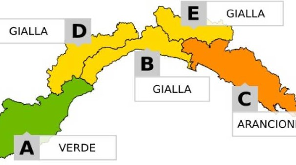 Allerta meteo in Liguria