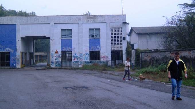 L'ingresso dell'area dell'ex Linificio