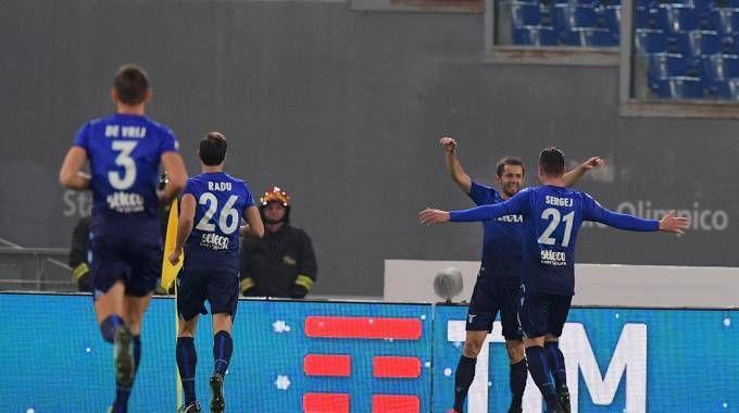 L'esultanza di Lulic dopo il gol dell'1-0