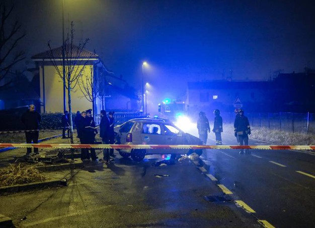 L'incidente mortale a Paderno Dugnano (Newpress)